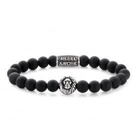 Rebel and Rose RR-8L027-S-L Armband Mad Lion L 8mm 19.0
