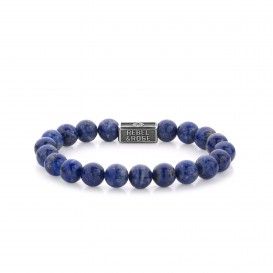 Rebel and Rose RR-8S002-S-M Armband Lapis Lazuli 925 - 8mm M 8mm 17.5
