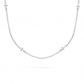 Rebel and Rose RR-NL002-S-49 Collier Necklace Believe In Yourself Silver 925 - 42/45cm S