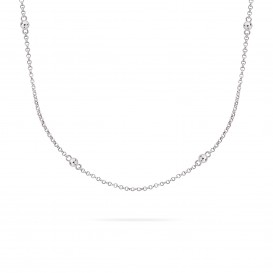 Rebel and Rose RR-NL003-S-49 Collier Necklace More Balls Than Most Silver 925 - 42/45cm S