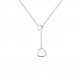 Rebel and Rose RR-NL009-S-60 Collier Necklace Triangle Love At First Sight Silver 925 - 60cm S
