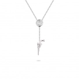 Rebel and Rose RR-NL012-S-52 Collier Necklace Mary Has A Gun Silver 925 - 45cm S