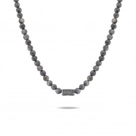 Rebel and Rose RR-NL016-S-70 Collier Necklace Grey Seduction - 6mm (70cm) L