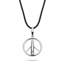 Rebel and Rose RR-NL017-S-L Collier Necklace Make Love Not War 925 Black - L L