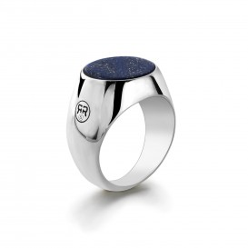 Rebel and Rose RR-RG002-S Ring zilver Round Lapis 57