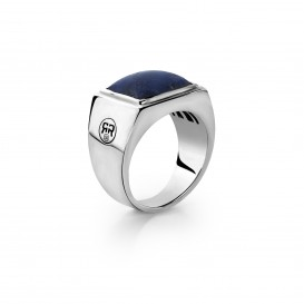 Rebel and Rose RR-RG005-S Ring zilver Square Lapis 57
