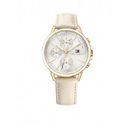 Tommy Hilfiger Carly TH1781790 Horloge Leer Beige Dames