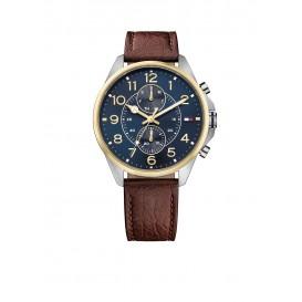 Tommy Hilfiger Dean TH1791275 Horloge Leer Bruin Heren