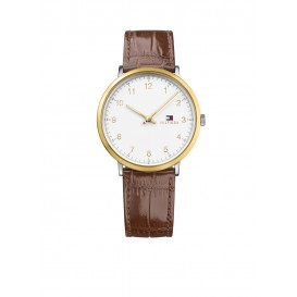 Tommy Hilfiger James TH1791340 Horloge Leer Bruin Heren
