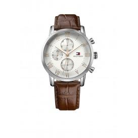 Tommy Hilfiger Horloge Kane zilverkleurig-bruin TH1791400