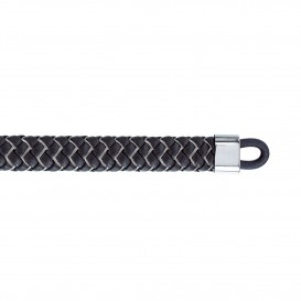 Tommy Hilfiger TJ2790058 Armband staal/leder zwart