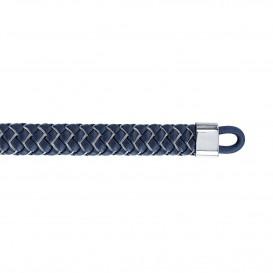 Tommy Hilfiger TJ2790060 Armband leder/staal donkerblauw