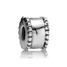 Pandora bedel Clip-stopper zilver 'Parelrand' 790267