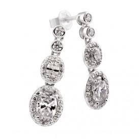 Zilveren Oorhangers 'Bridal' zirkonia Ovaal Entourage 808.0356.00