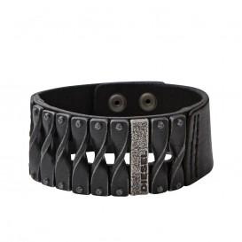 Diesel DXM0579040 Armband staal/leder zwart