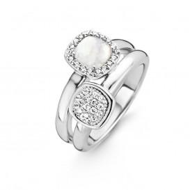 Ti Sento 12062MW zilveren ring met zirkonia Maat 50