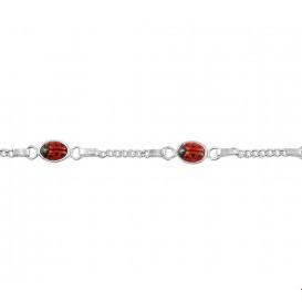 TFT Armband Zilver Lieveheersbeestje 11 - 13 cm