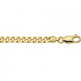 Armband Goud Geslepen Gourmet 4,3 mm 20 cm
