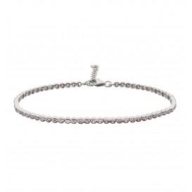 Zilveren Tennisarmband Fantasieschakel met lila zirconia 104.2031.20