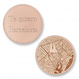 Mi Moneda Del Mundo - Barcelona rose Del Mundo - Barcelona rose munt