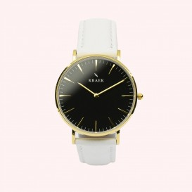 KRAEK Laraline | Gold | White 36 mm Dameshorloge