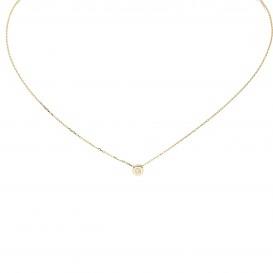 Glow Gouden Collier Met Hanger - Zirkonia 42+3cm 202.2055.45