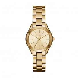 Michael Kors Horloge Mini Slim Runway staal goudkleurig MK3512