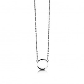 Zinzi ZIC1306 Zilveren collier met rondje