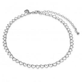 Zinzi ZICHOK1457 Choker zilver hartencollier 32 + 10 cm