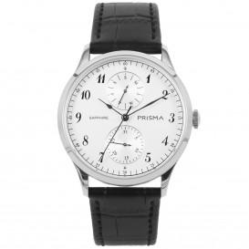 Prisma horloge 1900 Heren Multi-Functie Edelstaal Saffier P.1900 Herenhorloge 1