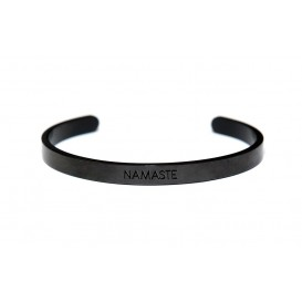 Key Moments 8KM-BM0005 Bangle met tekst Namaste one-size zwart