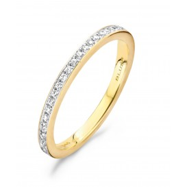 Blush 1119BZI Bicolor gouden ring met zirkonia Maat 50 is 16mm