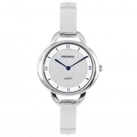 Prisma horloge 1465 dames edelstaal parelmoer 5 ATM P.1465 Dameshorloge 1