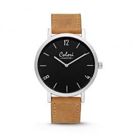 Colori - Phantom - 5-COL443 - Horloge - leren band - zand bruin - 42 mm