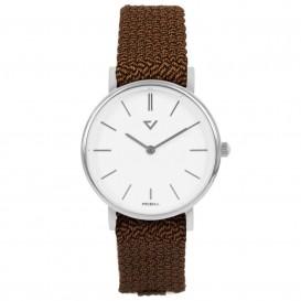 Prisma Horloge P.1860.WE24 slimline Nylon cognac 5ATM P.1860.WE24 Dameshorloge 1