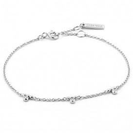 Ania Haie B003-03H Armband Shimmer Triple Stud zilver 16,5-18,5 cm