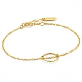 Ania Haie B007-02G Armband Twist Chain Circle goudkleurig 15,5-17,5 cm
