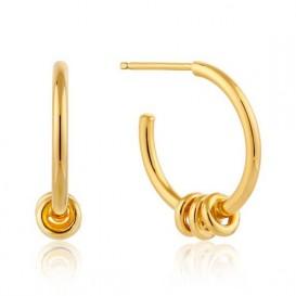Ania Haie E002-05G Oorbellen Modern Hoops goudkleurig 15 mm