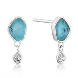 Ania Haie E014-01H Oorbellen Turquoise Drop zilver-turquoise