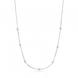 Ania Haie N002-03H Ketting Modern Beaded zilver 35-40 cm
