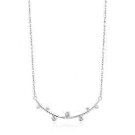 Ania Haie N003-01H Ketting Shimmer Solid Bar Stud zilver 43-48 cm