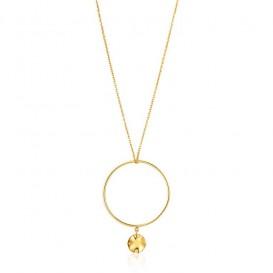 Ania Haie N007-02G Ketting Ripple Circle zilver goudkleurig 70-80 cm