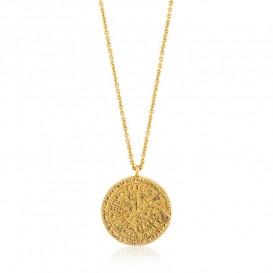 Ania Haie N009-04G Ketting Ancient Minoan zilver goudkleurig 45-50 cm