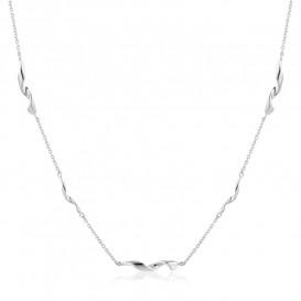 Ania Haie N012-02H Ketting Twist zilver 37-42 cm