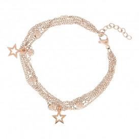 IXXXI Armband Chain Ball Star rosékleurig 17-20 cm B0021699002