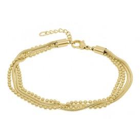 IXXXI Armband Snake Ball Slim goudkleurig 17-20 cm B0021717001
