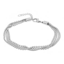 IXXXI Armband Snake Ball Slim zilverkleurig 17-20 cm B0021717003