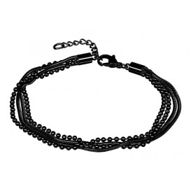 IXXXI Armband Snake Ball Slim zwart 17-20 cm B0021717005