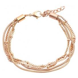 IXXXI B0023199002 Armband Snake Knot rosékleurig 17-20 cm
