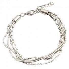 IXXXI B0023199003 Armband Snake Knot zilverkleurig 17-20 cm